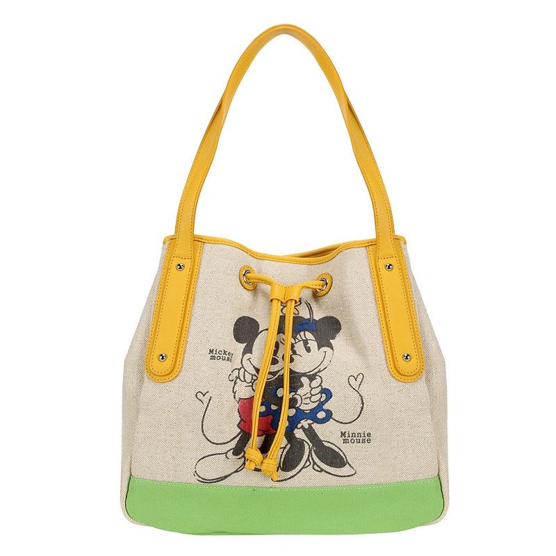 ディズニーミッキーマウスぬいぐるみバックパックバッグ漫画の女性キャンバスバッグショルダーガールハンドバッグ女性バケットバッグ巾着高容量  グループ上の おもちゃ & ホビー からの ぬいぐるみバックパック の中 2