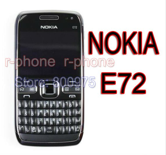 100 original nokia e72 mobile phone 3g wifi 5mp unlocked. Black Bedroom Furniture Sets. Home Design Ideas