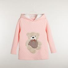 Baby Girl's Warm Hooded Sweatshirts