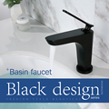 LOY Modern bathroom Sink Facet Single handle Wash Basin Faucet Lavatory Tap Brass Bright Black