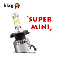 HLXG S2 New Upgrade H7 LED H4 H11 9005 HB3 9006 HB4 COB Car Headlight 70W