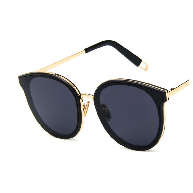 2018 Luxury Women Cat Eye Sunglasses Retro Oversize Vintage Reflective Sunglasses Mirror High Quality UV400