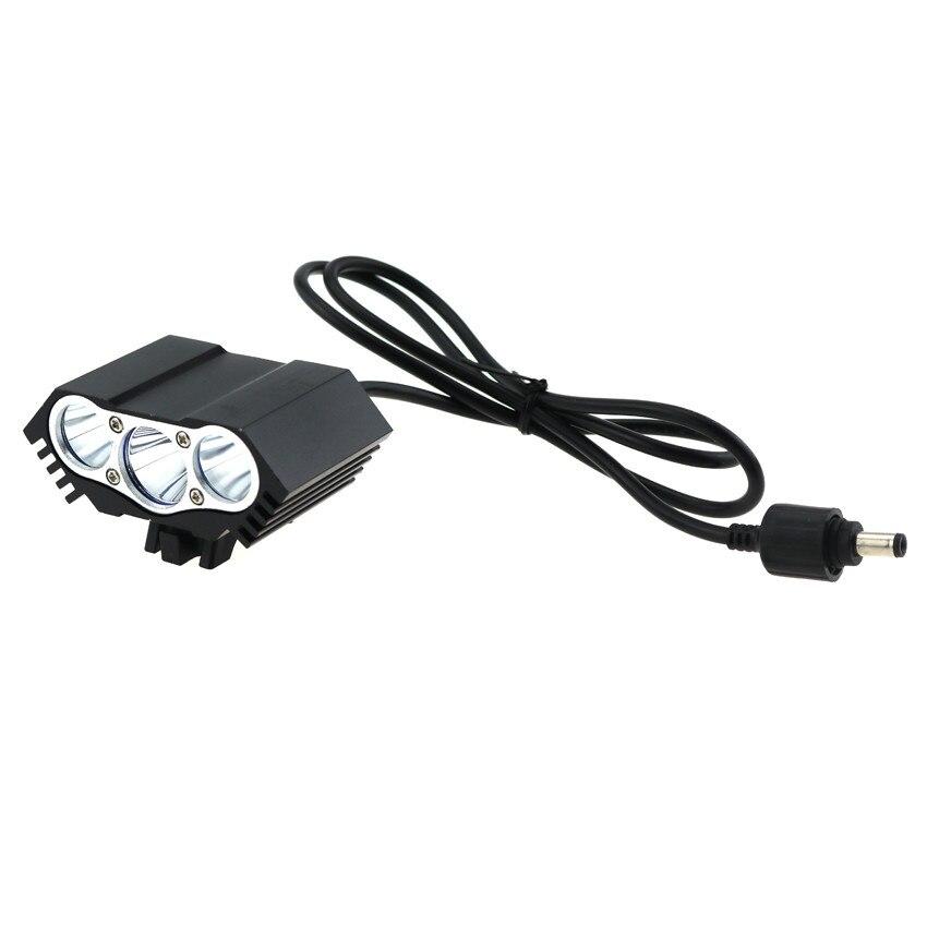 Cycling Headlamp 6000 Lumen 3x Cree XM-L T6 Bike Light Flashlight Lamp + 18650 Battery Pack + Charger+ Bike Rear Light