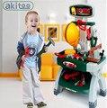 Nuevo 2017 súper alta simulación juguete de niño kit de mantenimiento de herramientas kit de baño sets bebé temprano educativo niños toys venta caliente