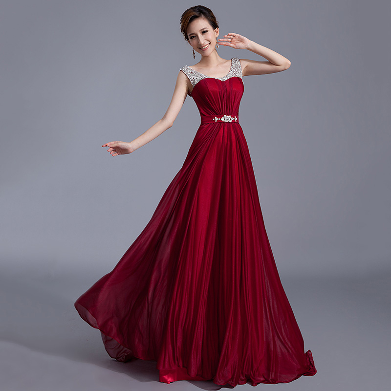 2017 100% Latest Designs Prom Dresses Long Chiffon Cheap Evening ...