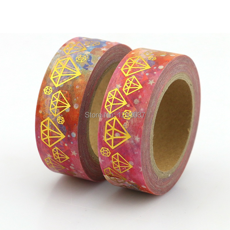 NEW 10m Decorative Foil Washi Tape Flower Diamond Starry Planet For Scrapbooking Masking Tape Adhesive Tapes Sticky Paper Tape