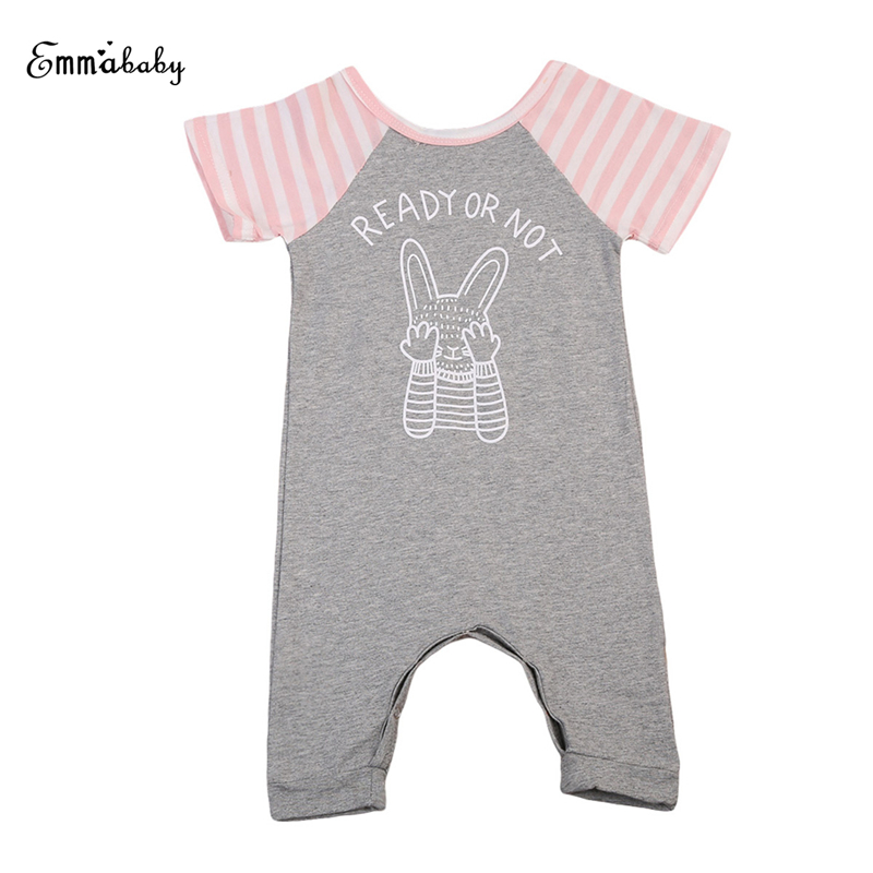 Baby Unisex Cotton Rompers Newborn Infant Baby Girls Boys Bunny Short Sleeve Romper 2017 New Arrival Bebes Jumpsuit Clothes 0-2T 2016 new newborn baby boys girls clothes rompers cotton tracksuit boys girls jumpsuit bebes infant long sleeve clothing overalls