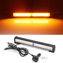 Luz Flash estroboscópica para coche, luz de advertencia de emergencia, LED COB, 9 modos, ámbar, baliza luminosa, lámpara de señal de emergencia policial