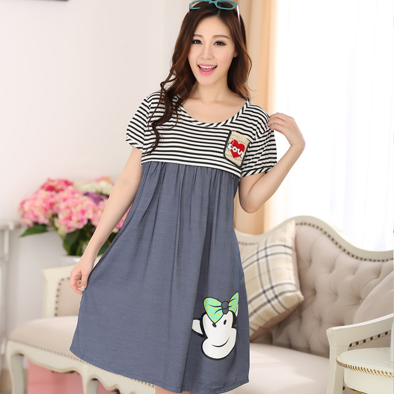 Large Size Pijama Maternity Nightdresses Lactation Dress for Nursing ...