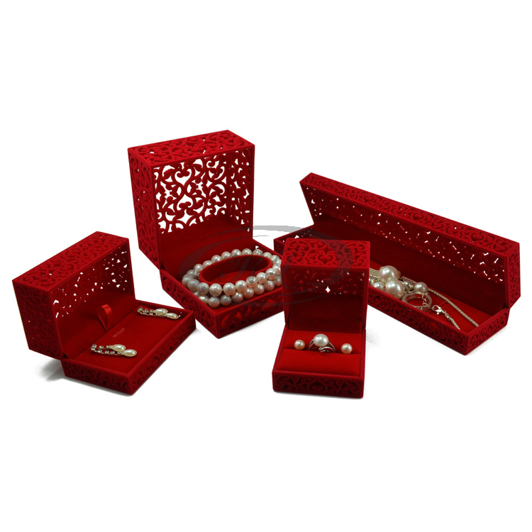 New Arrival 2013 5pcsset Red Velvet Jewelry Gift box RingEarring