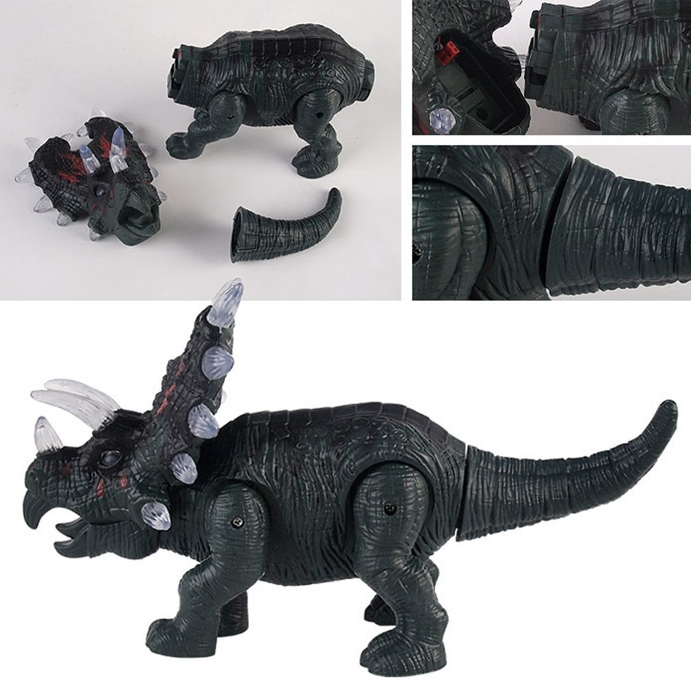 ocday large dinosaur toy light sound walking simulation electronic triceratops dinosaur surprise toys gifts for children in action toy figures from toys  [ 1010 x 1010 Pixel ]