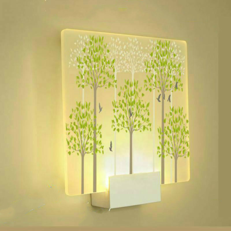 Modern Simple Printed Fashio Bedroom Wall Lamp Mirror Dimmable Led Decor Lights Modern Living Room Wall LightsModern Simple Printed Fashio Bedroom Wall Lamp Mirror Dimmable Led Decor Lights Modern Living Room Wall Lights