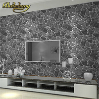 beibehang papel de parede Luxury Natural Wall Stone Creek Rock Slate Effect Vinyl Roll Rock wall Background vintage wallpaper 3d