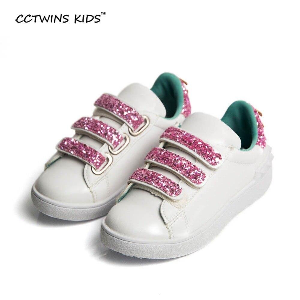 cc550b10b4b77 CCTWINS KIKS niños otoño pu cuero zapatillas marca moda Zapatillas para  bebés stud sneaker niño brillo F824