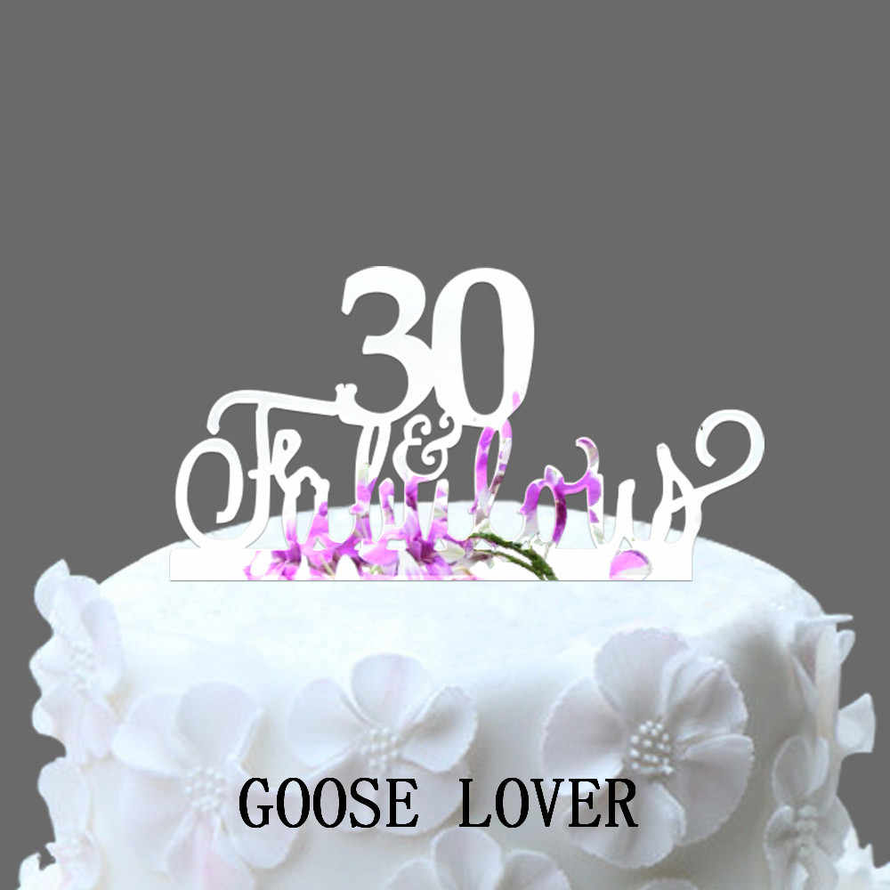Prime 30Th And Fabulous Cake Topper 30Th Birthday Party Decoration Personalised Birthday Cards Arneslily Jamesorg