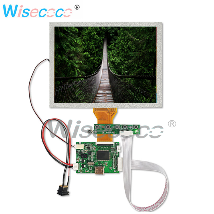 8.0 Inch LCD TFT LCD 800x600 High Resolution HDMI TTL 50pin With Control Driver Board