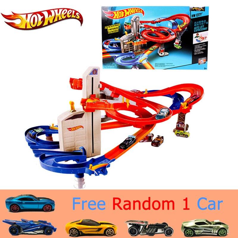 Genuine Hot Ruote Sport Auto Vestito di Pista brinquedo Educativo Pista Auto Emozionante Coupe Hotwheels Pista CDR08 Giocattoli Per Il Capretto