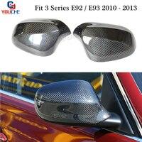 E92 E93 зеркала зеркало для замены крышки для BMW 3 серии Купе Кабриолет 2010 2013 углеродного волокна автомобильные аксессуары