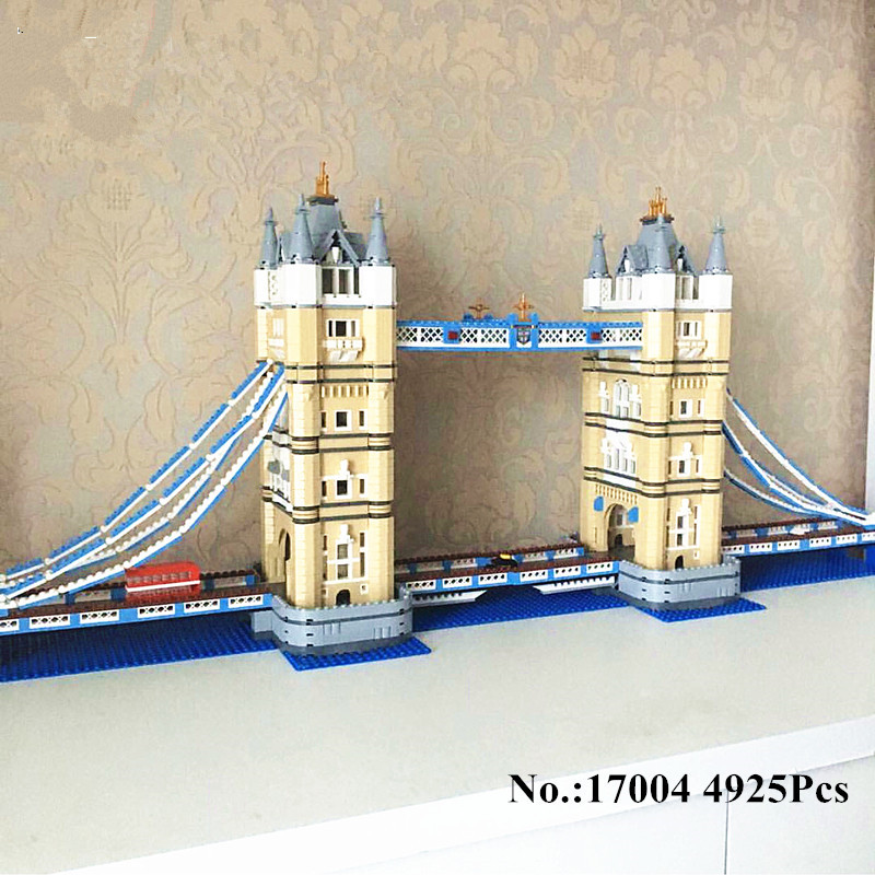 H&HXY IN STOCK  Free Shipping 17004 4295pcs London bridge Model Building Kits  Brick lepin DIY Toys Compatible  10214 Gifts in stock h