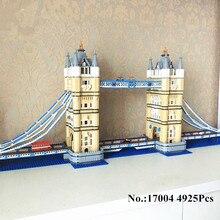 H & HXY EM ESTOQUE Frete Grátis 17004 4295 pcs London bridge Modelo Kits de Construção de Tijolo lepin DIY Brinquedos Compatíveis 10214 Presentes