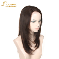 JOEDIR Hair Straight Lace Front Human Hair Wigs Long Bob Lace Wig With Baby Hair Brown/Black/Blonde/Orange/Red Wig For Women