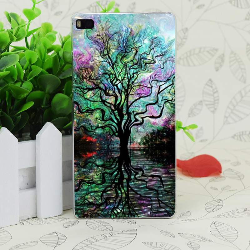 C2224 Van Gogh S Aurora Boreal Transparent Hard Thin Case Skin Cover For Huawei P 6 7 8 9 Lite Plus Honor 6 7 4C 4X G7