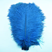 15-70CM soft feathers ostrich plumes Lake blue large feather  for crafts DIY Hotel Home Wedding Dyed plumas Decoration