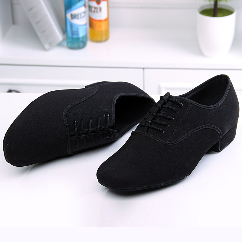 BD61 Professional Black Heel 2.5cm Oxford Square BD Dance Shoes Latin Ballroom Dance Shoes Men Leather