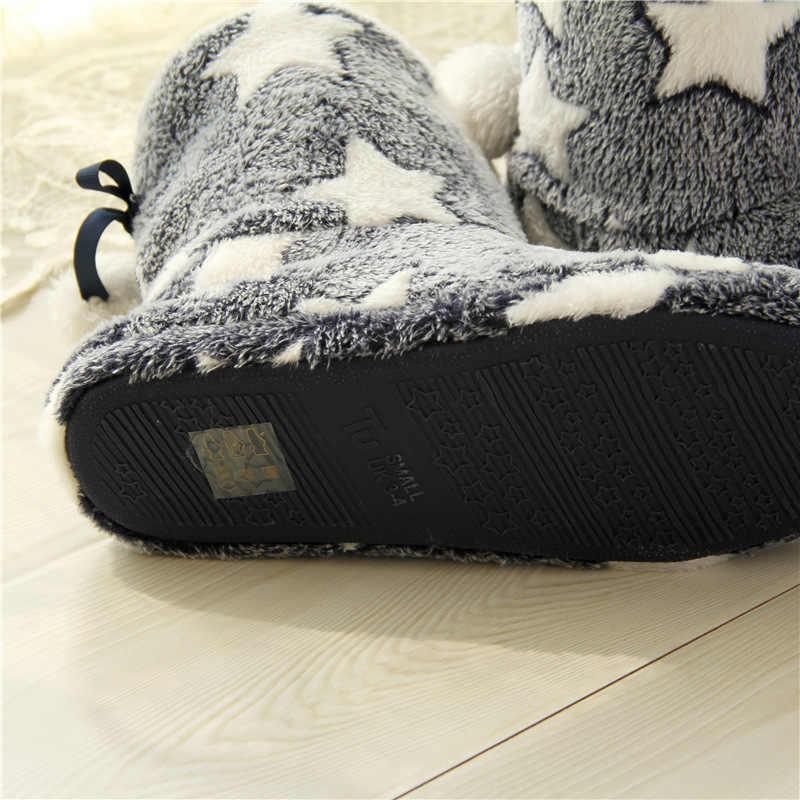 Kadın Botları Kış sıcak Kürk Orta buzağı Çizmeler Yıldız Sıcak Peluş Ayakkabı Kadın Düz topuk Konfor Kalın Satılan Pembe botas Mujer Zapatos