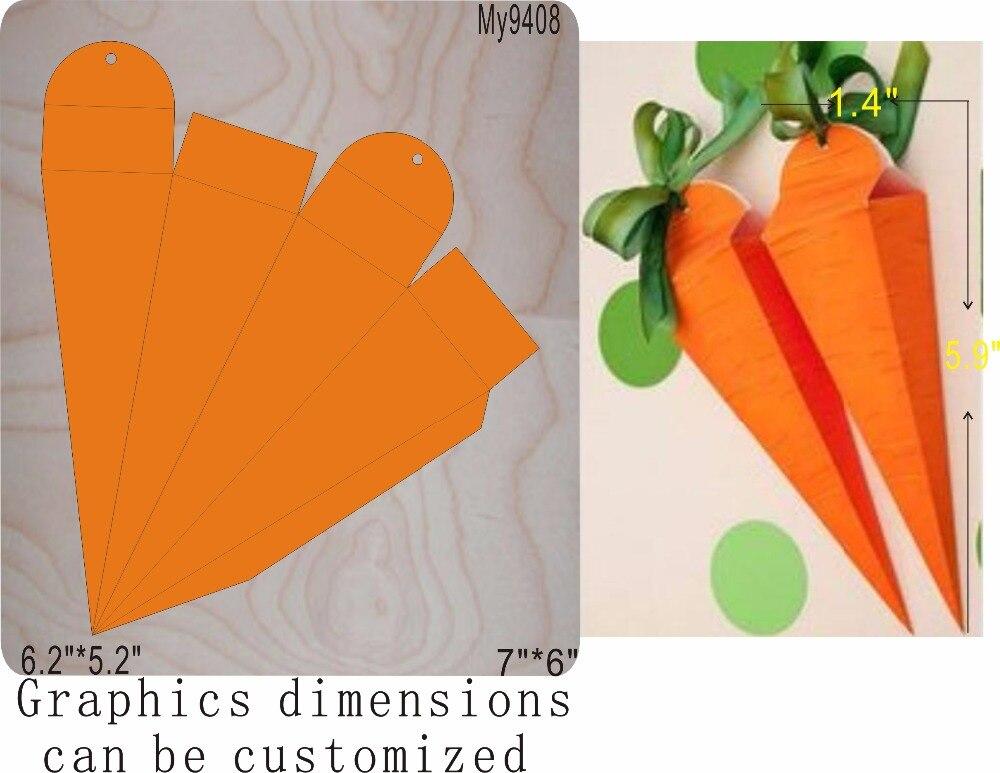 Boîte à carottes moule en bois accessoires découpés en bois die refairy Acciaio die Misura, MY