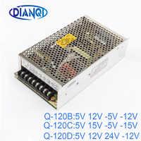 DIANQI quad output power supply 120W 5V 12V -5V -12V suply Q-120B ac dc converter good quality