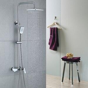Image 4 - 골드와 블랙 럭셔리 욕실 샤워 세트 욕실 골드 & 블랙 벽 샤워 꼭지 욕조 샤워 믹서