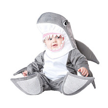 Baby Boys Girls Grey Shark Animal Halloween Fancy Dress Costume Outfit 18 24mths