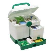 Plastic multi-layer Emergency Geneeskunde Opbergdoos Handy Thuis Ehbo-kit case Kinderen Gezondheidszorg Pil Houder