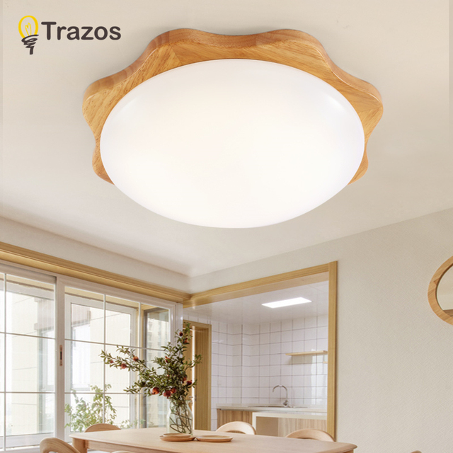 TRAZOS 2018 New Design Modern Led Ceiling Lights With Round Wood ...