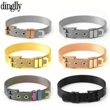 Stainless Steel Mesh Watch Belt Bracelets For Women Men Fit Original Golden Rose Gold Silver Black Colorful Bracelet Bangle