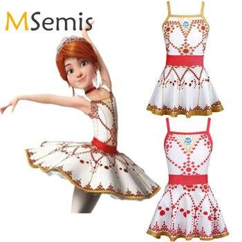 Kids Girls Cosplay Leotard Ballerina Felicie Tutu Ballet Dress Ruffled Square Neckline Dance Gymnastics for - discount item  27% OFF Stage & Dance Wear