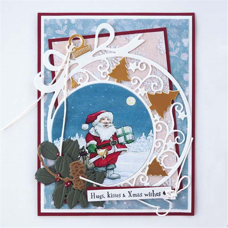 DiyArts Christmas Ornament Metal Cutting Dies Scrapbooking ...