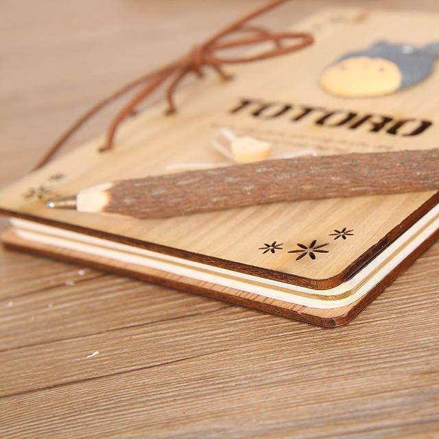 Cute Totoro Wooden Book Diary Series III