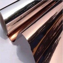 Brown Silver One Way Solar Mirror Window Film Tint Glass Sticker Heat Insulation Privacy Reflective Office Home Decor 30*600cm