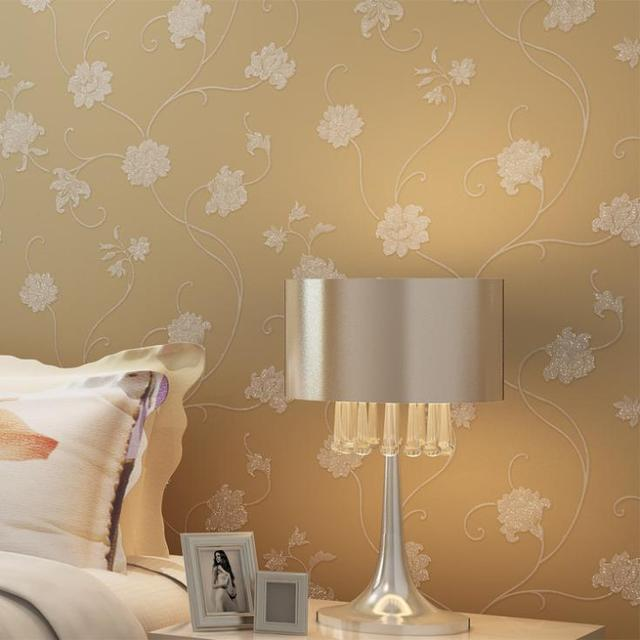 2015 real classic wallpaper for walls wall paper non-woven minimalist bedroom foliage anti-static tapete Moisture-Proof Floral