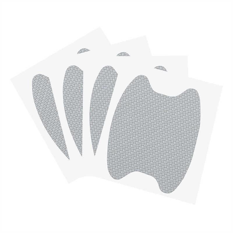 8 sztuk z włókna węglowego klamka do drzwi samochodowych folia ochronna Anti Scratch naklejka lakier samochodowy folie ochronne