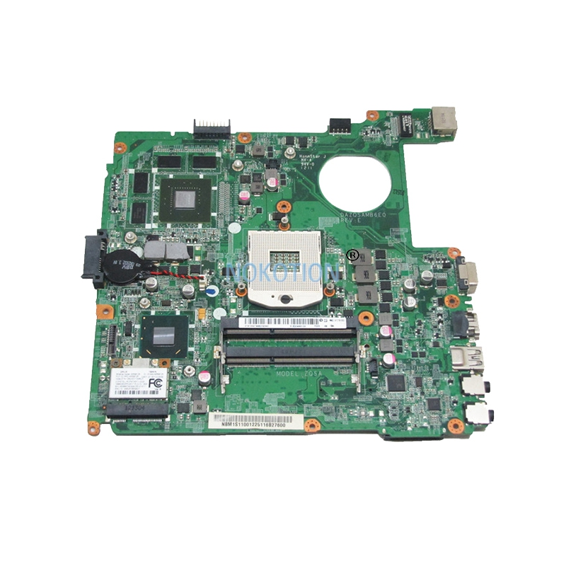 NOKOTION DAZQSAMB6E0 NBM1S11001 Laptop motherboard For Acer Aspire E1-471G Intel ddr3 Socket pga989 with GeForce GT630M Graphics nokotion sps v000198120 for toshiba satellite a500 a505 motherboard intel gm45 ddr2 6050a2323101 mb a01
