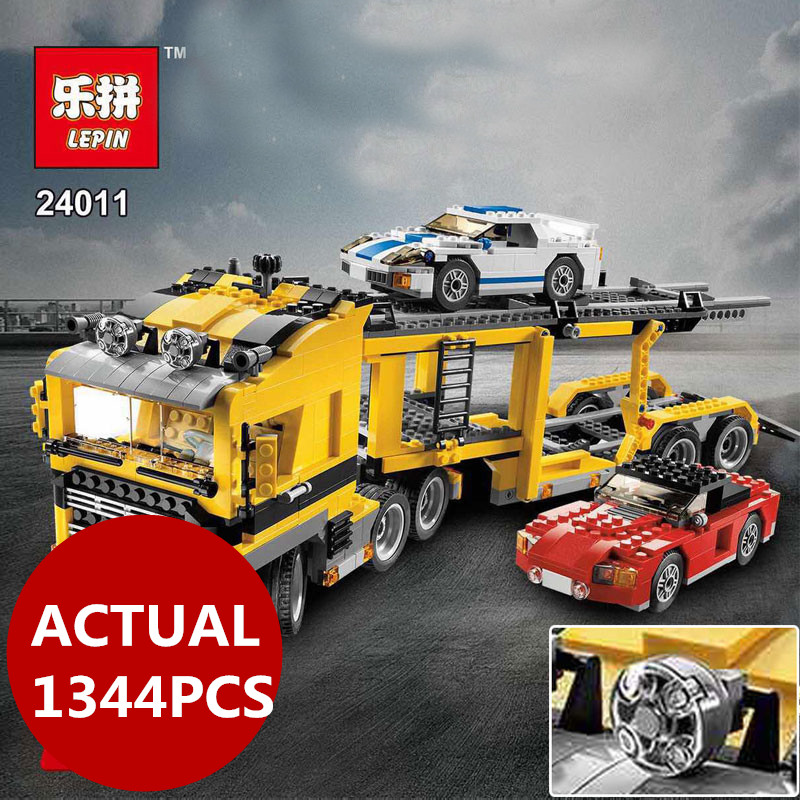Lepin 24011 Technic Series The Three in One Highway Transport Set 1344Pcs Educational Building Blocks Brick Toys Model Gift 6753 transport phenomena in porous media iii