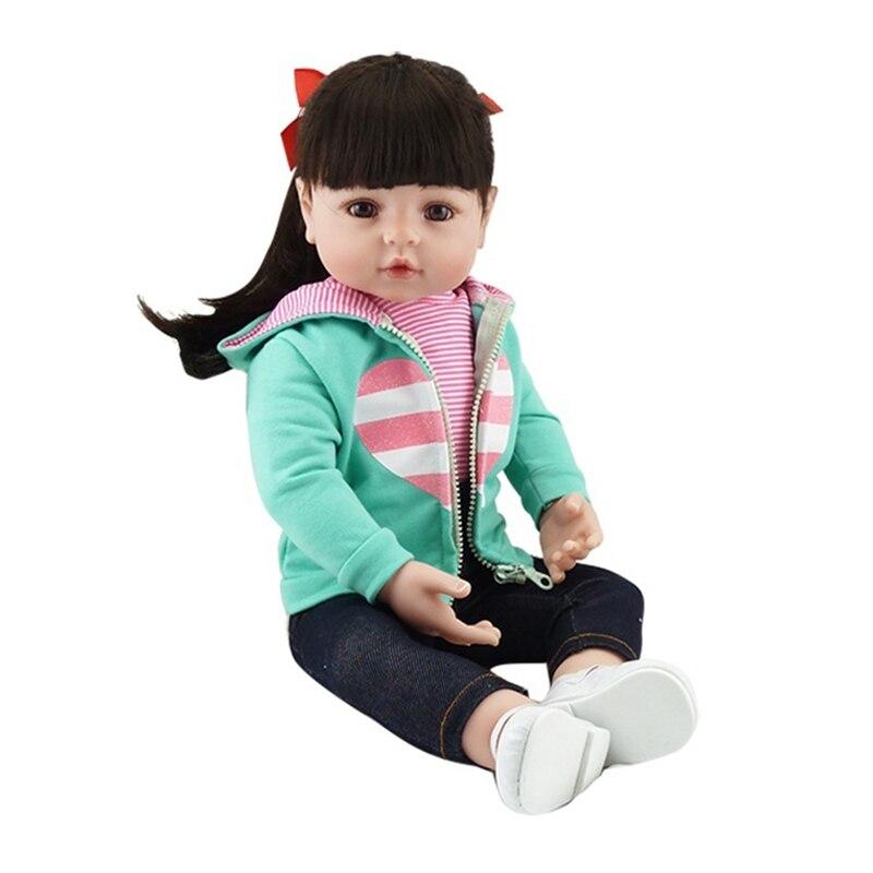 Nicery 19inch 48cm Reborn Bebe Doll Reborn Soft Silicone Boy Girl Toy Reborn Baby Doll Gift for Children Green Coat Nicery 19inch 48cm Reborn Bebe Doll Reborn Soft Silicone Boy Girl Toy Reborn Baby Doll Gift for Children Green Coat