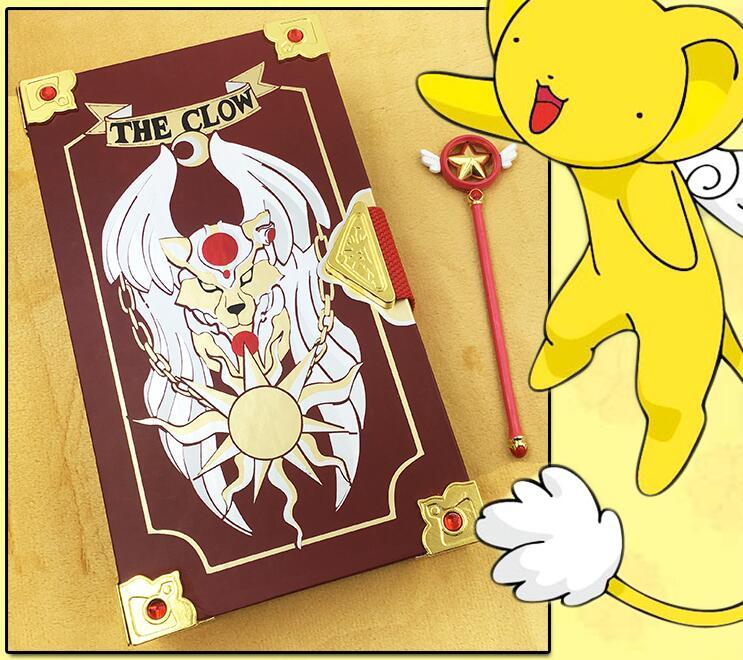 Hardcover Collector's Edition Card Captor Sakura 56pcs clow cards tarot card + Magic Book Cosplay Figure Toy Set anime cartoon