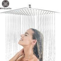 30cm * 30cm Stainless Steel Showerheads 12 inch Square Rainfall Shower Head Ultra thin Rain Shower Faucet Head Chrome Finish