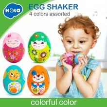 Купить с кэшбэком 2PCS/Lot Baby Toys Funny Sand Eggs Toy Musical Instrument Developmental Toys for Children 0-12 months HOLA 3102C