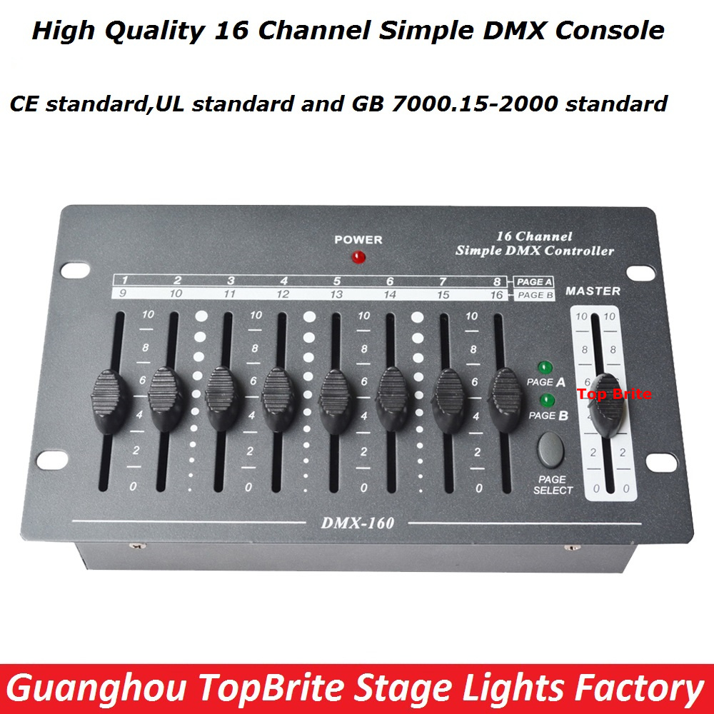 2017 Factroy Price NEW Arrival 1XLot 16 Channels Simple DMX Controller DMX 512 Console For Stage DJ Disco Lighting Free Shipping hot sell 240 disco dmx controller dmx 512 dj dmx console equipment for stage wedding and event lighting dj controller