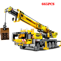 City Engineering Technic Machine Car Building Blocks Compatible Legoings Technic Enlighten DIY Bricks Toys For Children Gifts
